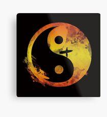 yin yang surfin V1 Metal Print