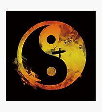 yin yang surfin V1 Photographic Print