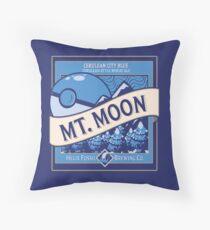 Mt. Moon Pokemon Beer Label Throw Pillow