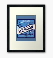 Mt. Moon Pokemon Beer Label Framed Print