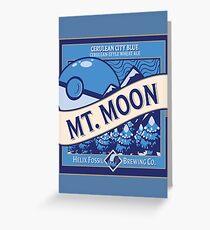 Mt. Moon Pokemon Beer Label Greeting Card