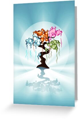 The Four Seasons Bubble Tree by ruxique
