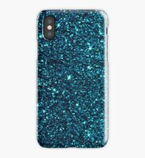 midnight blue sparkle iPhone Case