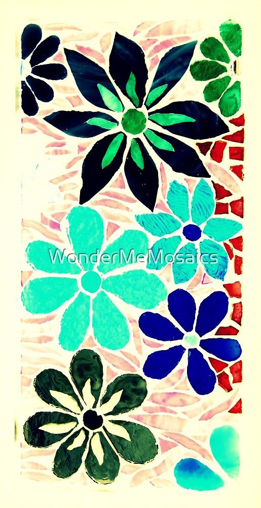 Another Burst of Garden of Flowers, Mosaic by WonderMeMosaics