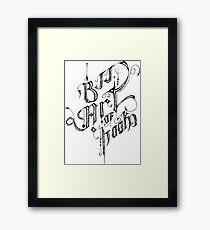 BJJ ART OF HOOKS Framed Print