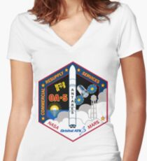 CRS OA-5 Mission Patch Women's Fitted V-Neck T-Shirt