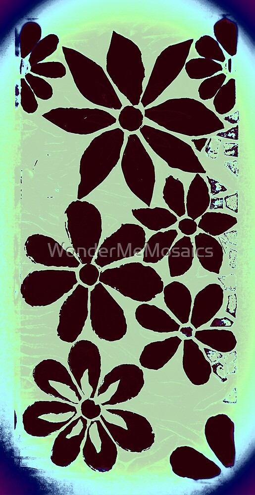 Garden of Batik Flowers, Mosaic by WonderMeMosaics
