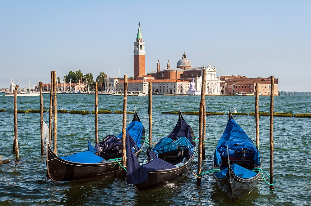 Gondolas in Venice. by FER737NG