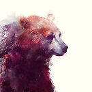 Bear // Calm - Quadratisches Format von Amy Hamilton