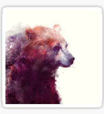 Bear // Calm - Square Format Sticker