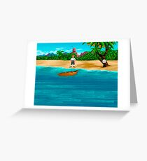 MONKEY ISLAND BEACH Greeting Card