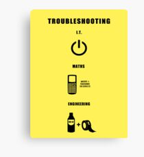 Troubleshooting (dark shirt) Canvas Print
