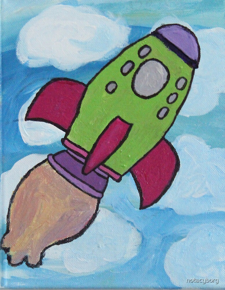 Rocket Ship  by notacyborg