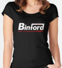 Binford Tools when you need more power Women's Fitted Scoop T-Shirt