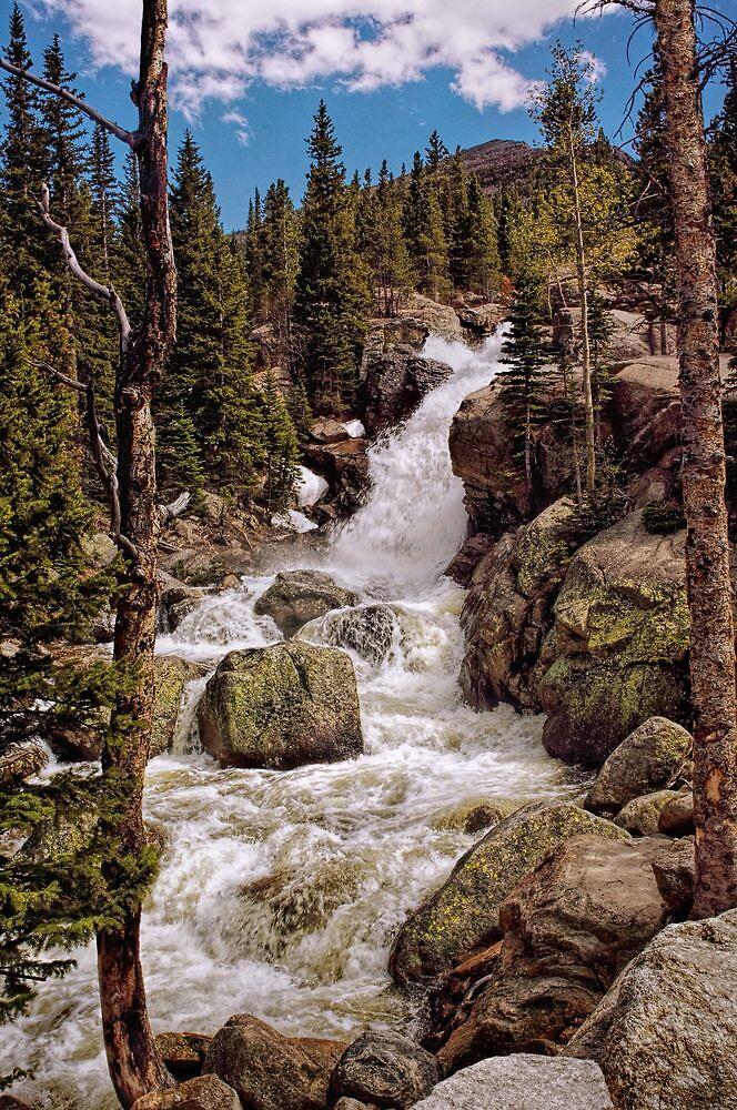 """""""Alberta Falls #2"""" RMNP by Johnny Gomez by johnny gomez"""