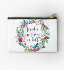 Females Are Strong as Hell Floral Studio Pouch