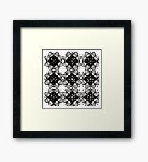 Black and White Mandala Artwork Original { Luxury Art Collection } Framed Print