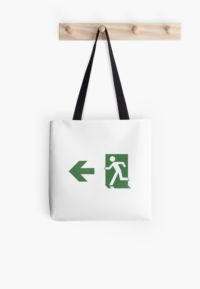 Running Man Emergency Exit Sign, Left Hand Arrow by Egress Group Pty Ltd