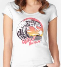 Wolf Beach Women's Fitted Scoop T-Shirt