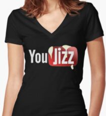 YOU JIZZ youtube model Women's Fitted V-Neck T-Shirt