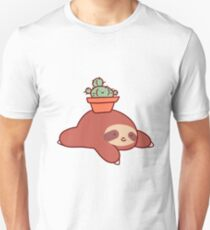 Sloth and Cactus Slim Fit T-Shirt
