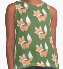 Cute Little Fox Painting Contrast Tank