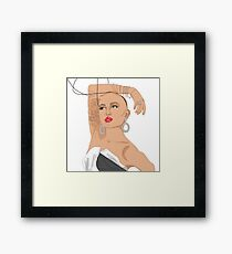 Ongina - coloured Framed Print