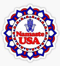 NAMASTE USA HAMSA PEACE YOGA HAND Sticker