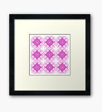 Wild Pink Mandala Artwork Original { Luxury Art Collection } Framed Print
