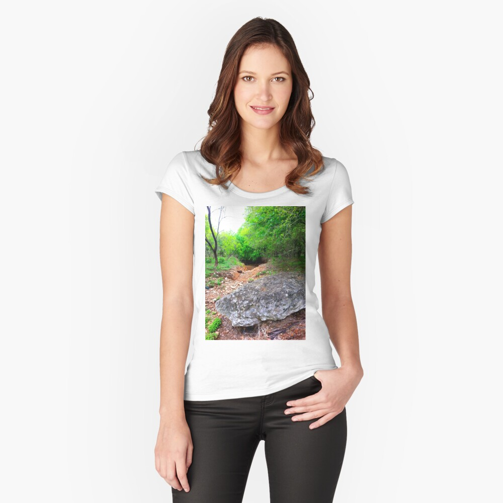 Little cave under trees Women's Fitted Scoop T-Shirt Front