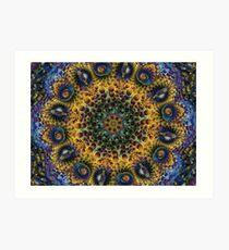 Fractal Sunflower 160620-02 Art Print