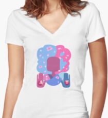 Garnet - Cotton Candy Pastel Women's Fitted V-Neck T-Shirt