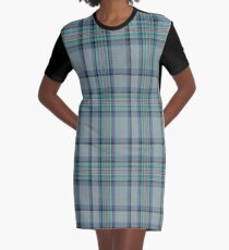 02410 Diana Princess of Wales Memorial Commemorative Tartan  Graphic T-Shirt Dress
