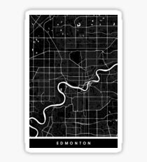 Edmonton | Canada | City Map | Minimalism Sticker