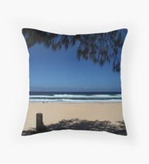 Surf and Shadow Throw Pillow