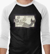 FIJI MERMAID - Art By Kev G Men's Baseball ¾ T-Shirt