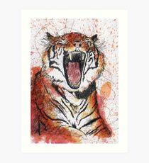 Lámina artística Scribble Ink Tiger