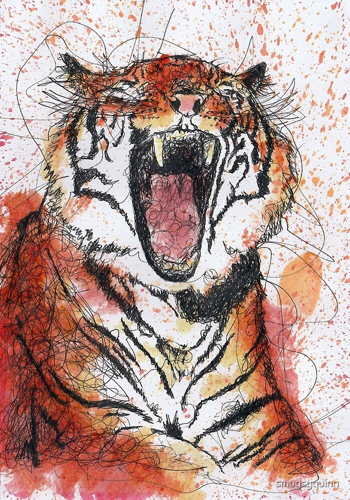 Scribble Ink Tiger by smugsyquinn