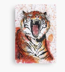 Scribble Ink Tiger Canvas Print