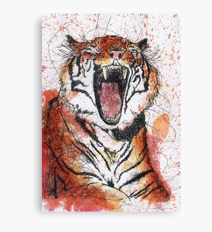 Scribble Ink Tiger Canvas Print