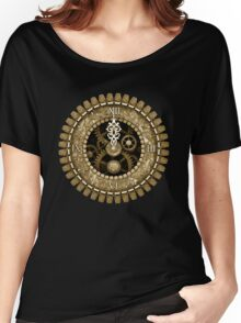 Steampunk Vintage Clock Face in Sepia Women's Relaxed Fit T-Shirt