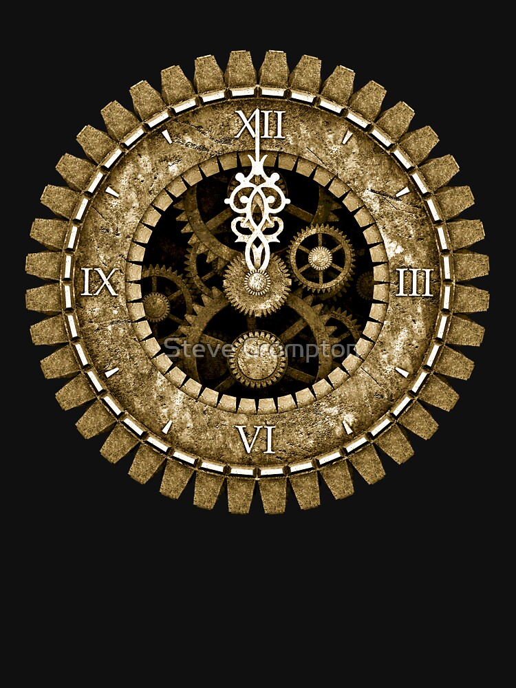 Steampunk Vintage Clock Face in Sepia by SC001