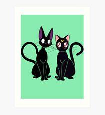 JiJi and Luna Art Print