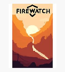Firewatch horizion with logo Photographic Print