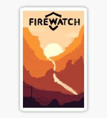 Firewatch horizion with logo Sticker