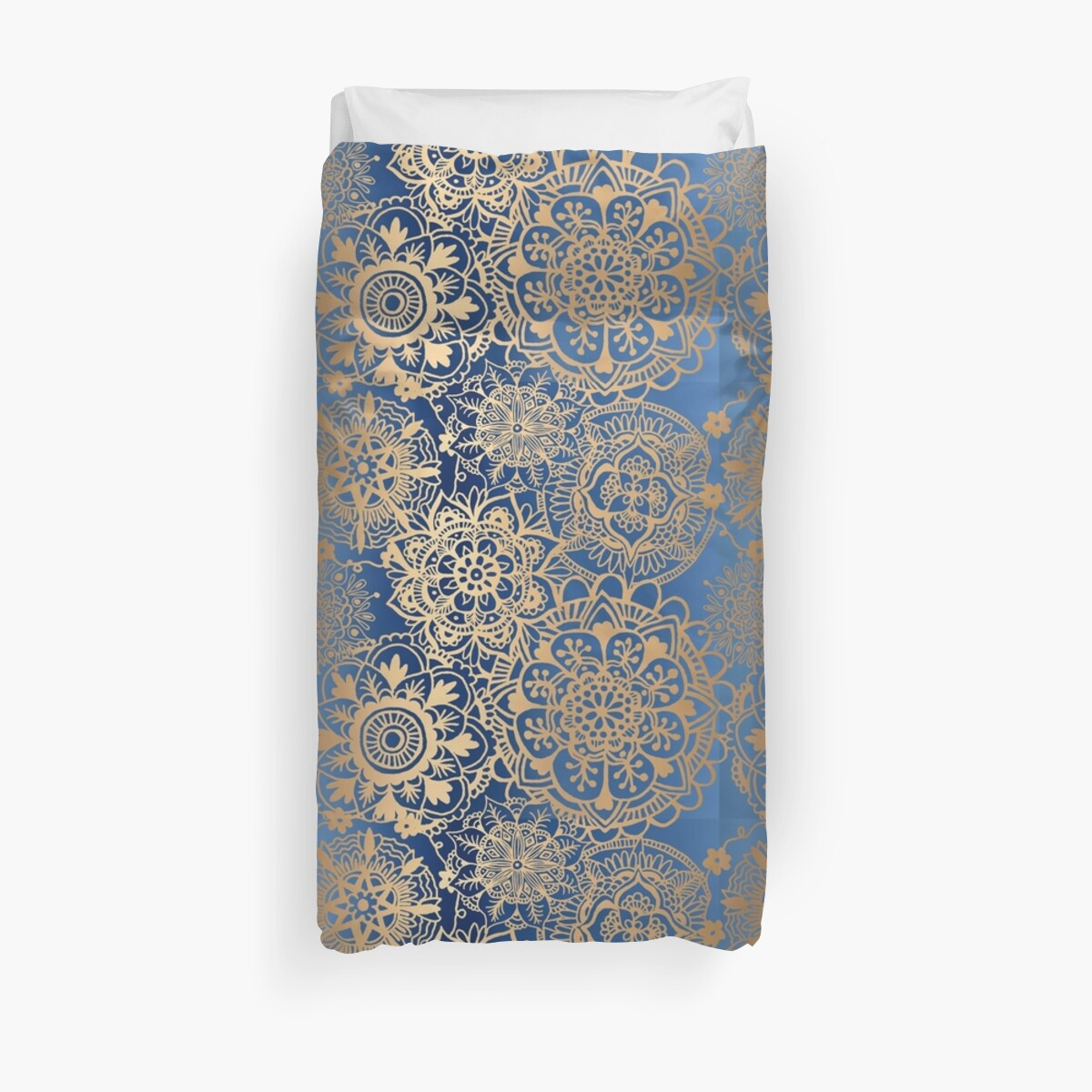 Quot Blue And Gold Mandala Pattern Quot Duvet Covers By