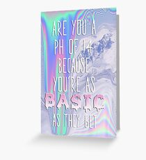 Basic AF Greeting Card