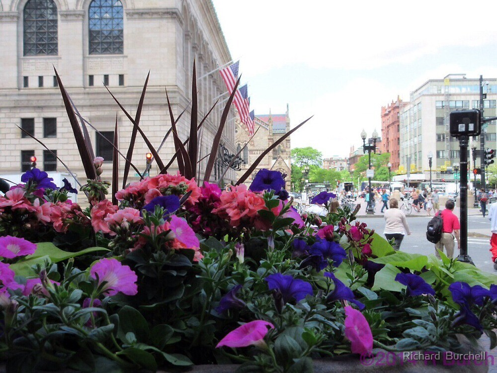 Spring outside the Boston Public Library by Richard  Burchell