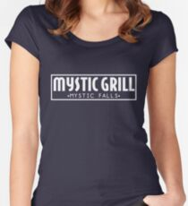Mystic Grill - Vampire Diaries Women's Fitted Scoop T-Shirt