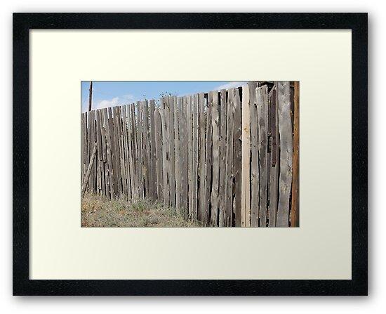 old wooden fence by mrivserg